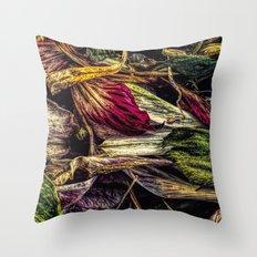 Dried Flower Petals Throw Pillow