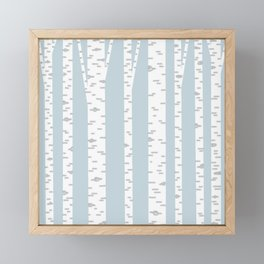 Minimalist Birch Trees by Amanda Laurel Atkins Framed Mini Art Print
