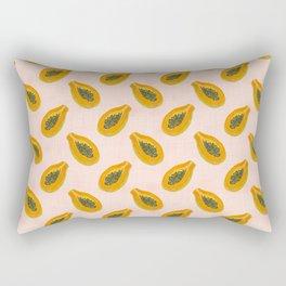 Papaya in sunset Rectangular Pillow