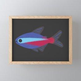 Cardinal tetra Framed Mini Art Print