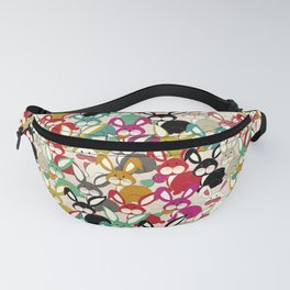 Colored  Easter bunny seamless pattern Fanny Pack