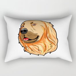 Golden Retriever Christmas Hat Present Dog Doggie Rectangular Pillow
