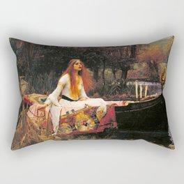 The Lady of Shalott by John William Waterhouse (1888) Rectangular Pillow