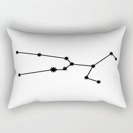 Taurus Star Sign Black & White Rectangular Pillow