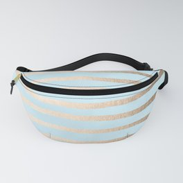 Abstract Drawn Stripes Gold Tropical Ocean Sea Turquoise Fanny Pack