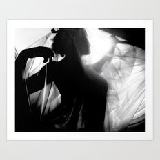 The Alchemist. black and white photograph Art Print