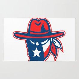 Texan Outlaw Texas Flag Mascot Rug