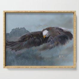 """Mother Eagle"" -Inspirational Digital Art  Serving Tray"