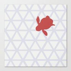 Triangle vs. Turtle Canvas Print