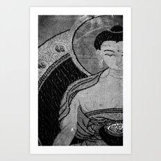 Buddha in Tapestry Art Print