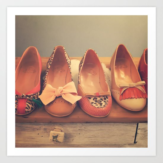 Vintage Shoes and Heels  Art Print