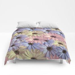 Pink Yellow Blue Comforters