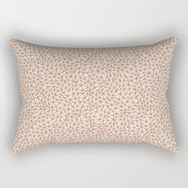 Sherwin Williams Cavern Clay SW 7701 Abstract Multi Sized Triangle Shape Pattern on Creamy Off White Rectangular Pillow