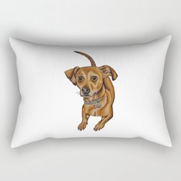 Maxwell the dog Rectangular Pillow