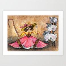 Peep and her Sheep Art Print
