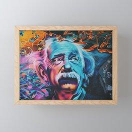 Einstein graffiti Framed Mini Art Print