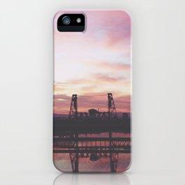 Steel Bridge Sunrise iPhone Case