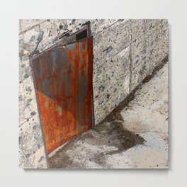 Abandoned Theatre - Red Door Metal Print