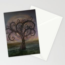 Golden Spiral Tree #3 Stationery Cards