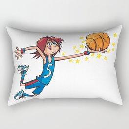 Basket Player Rectangular Pillow