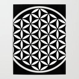 Flower of Life Yin Yang Poster