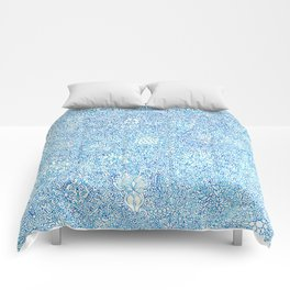 Blue Ornate Comforters