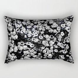 Black and White Barnacles Rectangular Pillow