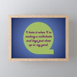 Milkshake Typeography Framed Mini Art Print