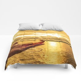 Cognac Sunset Swirl Comforters