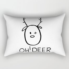 Christmas card Oh Deer - wink Rectangular Pillow