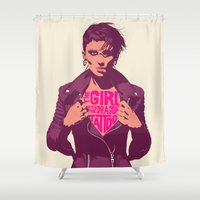 THE GIRL WITH THE DRAGON TATTOO Shower Curtain