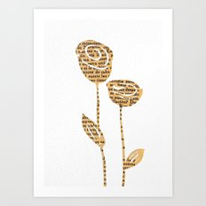 PAPERCUT FLOWER 5 Art Print