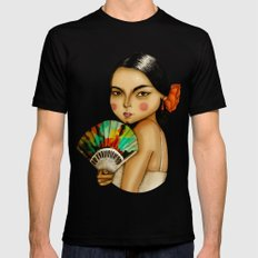 Lola Flores Black Mens Fitted Tee MEDIUM