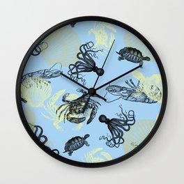 Vintage Sea Creatures Wall Clock