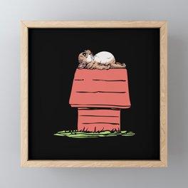 French Bulldog House Framed Mini Art Print
