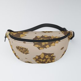 pine cones. abstract pattern of pine cones and nuts Fanny Pack