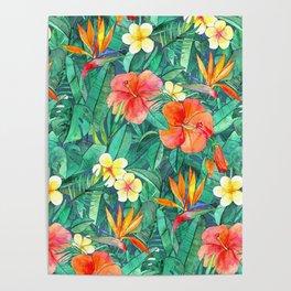 Classic Tropical Garden Poster