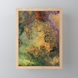 Flower Of Life Batik Framed Mini Art Print