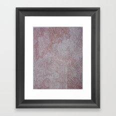 Map of Time and Space Framed Art Print