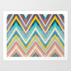 colorful mountains Art Print