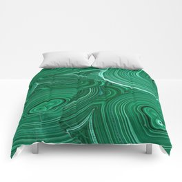 Green Malachite Nature Pattern Design Abstract Comforters