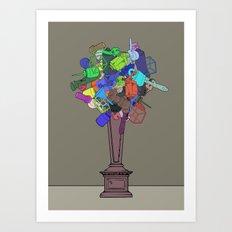 Joke Flower Art Print