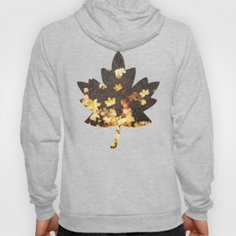 Gold yellow maple leaves autumn asphalt road Hoody