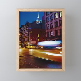Taxi's Whizzing By Framed Mini Art Print