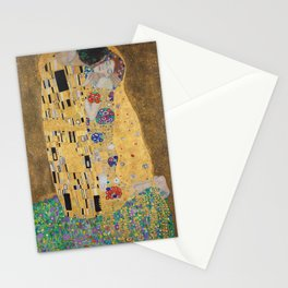 Gustav Klimt, The Kiss (Lovers), 1908 - Reproduction under Belvedere, Vienna, Creative Commons License CC BY-SA 4.0 Stationery Cards