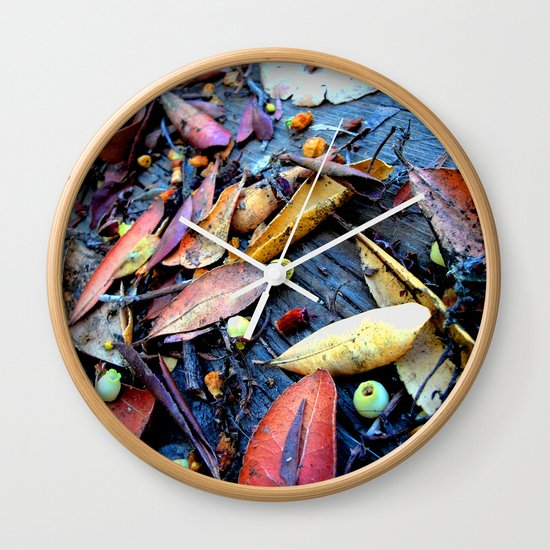 Leaves of a Strawberry Tree Wall Clock