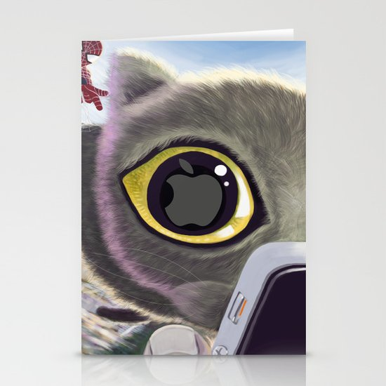 Falling Cat & Hero Stationery Cards