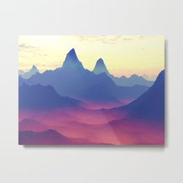 Mountains of Another World Metal Print