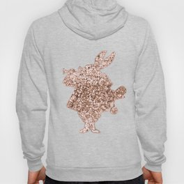 Sparkling rose gold Mr Rabbit Hoody