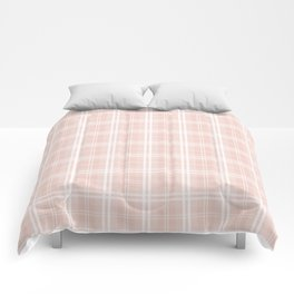 Spring 2017 Designer Color Pale Pink Dogwood Tartan Plaid Check Comforters